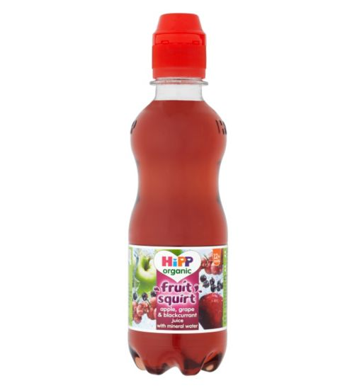 HiPP Organic Fruit Squirt Apple, Grape & Blackcurrant Juice with Mineral Water 12+ Months 300ml