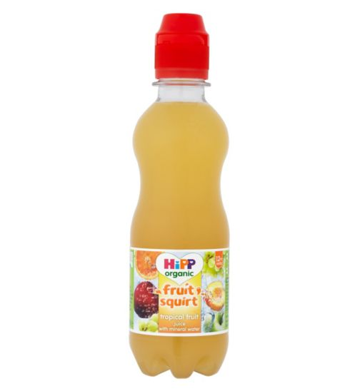 HiPP Organic Fruit Squirt Tropical Fruit Juice with Mineral Water 12+ Months 300ml