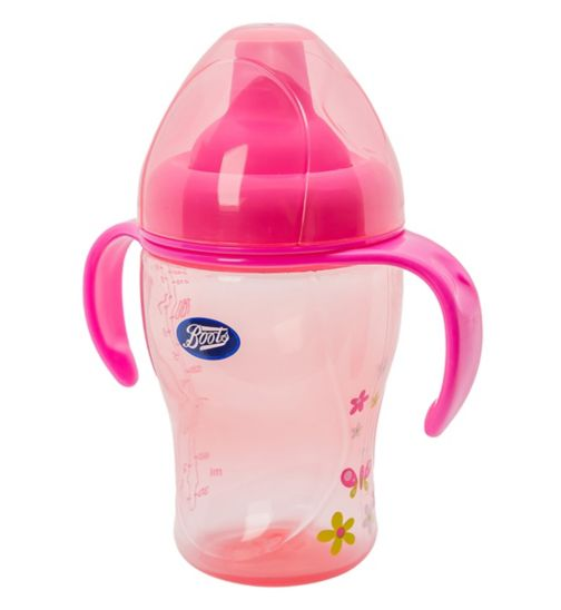 Boots Baby Trainer Bottle- Pink