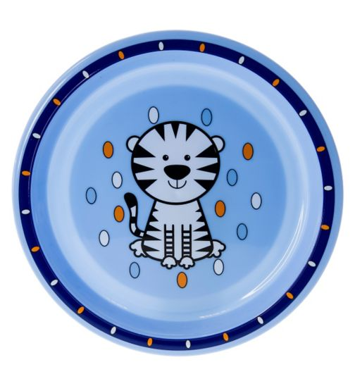 Boots Baby Safari Plate- Blue