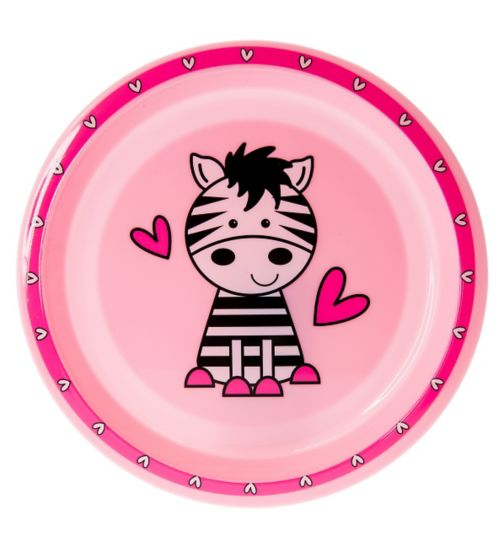 Boots Baby Safari Plate- Pink