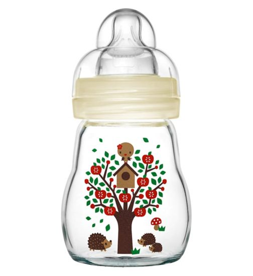MAM Feel Good Glass Bottle 170ml – White