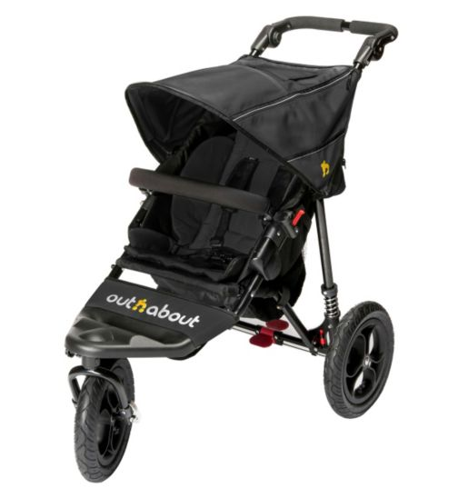 Out 'n' About Nipper Single V4 Pushchair - Black
