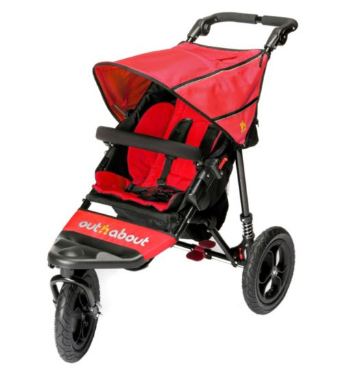 Out 'n' About Nipper Single V4 Pushchair - Red