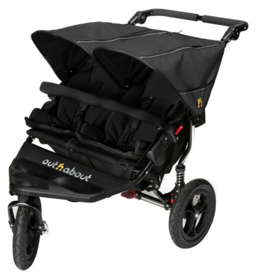 Out 'n' About Nipper Double V4 Pushchair - Black