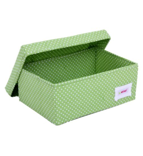 Minene Small Storage Box - Green Spot