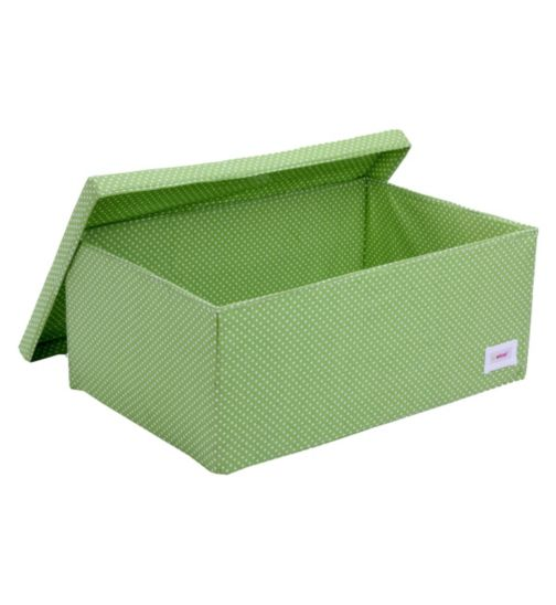 Minene Large Storage Box - Green Spot