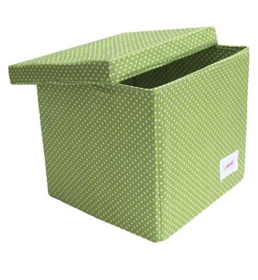 Minene Storage Cube - Green Spot