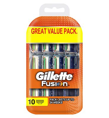 Gillette Fusion Razor Blades 10 count  Value Pack