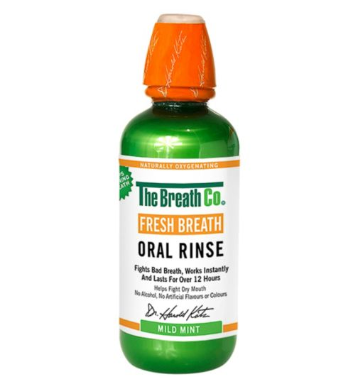 The Breath Co. Fresh Breath Oral Rinse Mild Mint 500ml