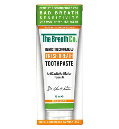 The Breath Co. Fresh Breath Toothpaste Mild Mint 75ml