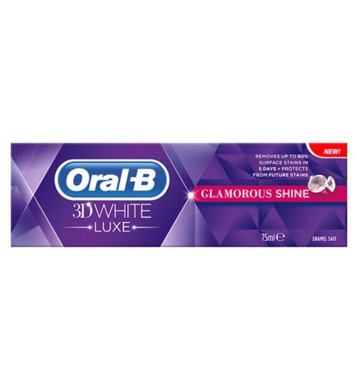 Oral-B 3DWhite Luxe Glamourous Shine Toothpaste 75ml