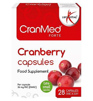 Cranmed Forte Prevention 28 Capsules - One a day formula