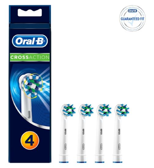 Oral-B CrossAction Replacement Toothbrush Heads x4