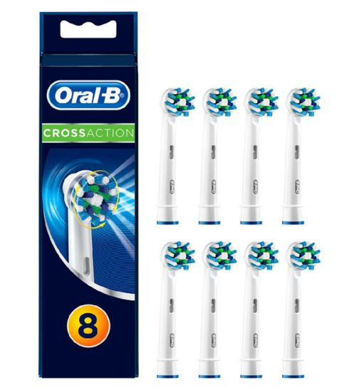 Oral-B CrossAction Replacement Electric Toothbrush Heads 8 pack