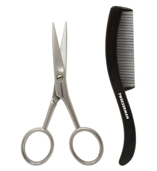 Tweezerman Gear Moustache Scissors with Comb