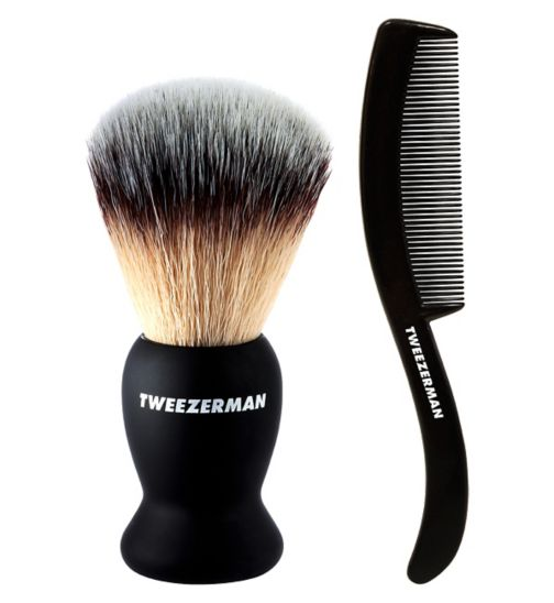 Deluxe Shaving Brush with free moustache/beard comb