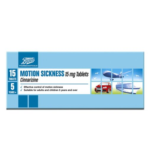 Boots Pharmaceuticals Motion Sickness 15mg Tablets - 15 tablets