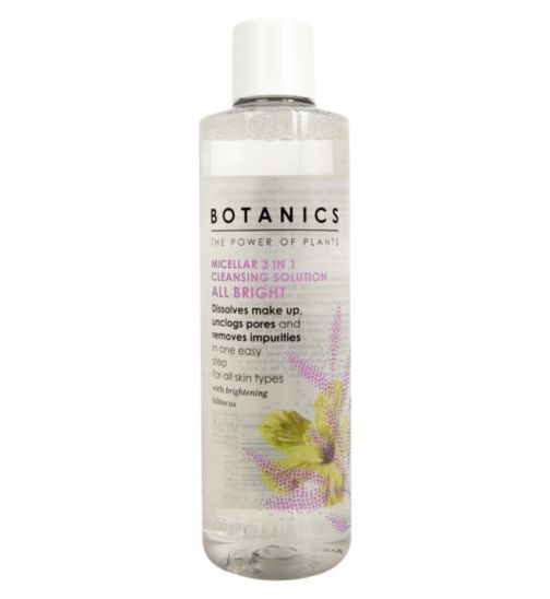 Botanics All Bright Micellar 3 in 1 Cleansing Solution