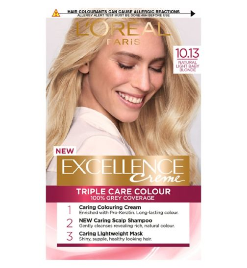 L'Oreal Paris Excellence Crème Permanent Hair Dye 10.13 Natural Light Baby Blonde