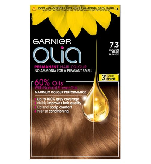 Garnier Olia 7.3 Golden Dark Blonde Permanent Hair Dye