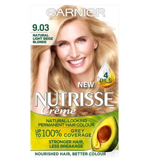 Garnier Nutrisse Crème Permanent Hair Colour 9.03 Natural Light Beige Blonde