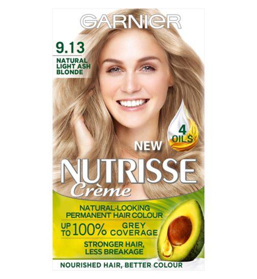 Garnier Nutrisse Crème Permanent Hair Colour 9.13 Natural Light Ash Blonde