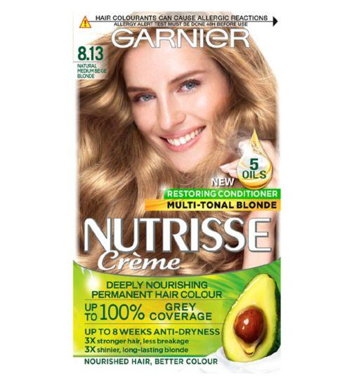 Garnier Nutrisse 8.13 Medium Beige Blonde Permanent Hair Dye