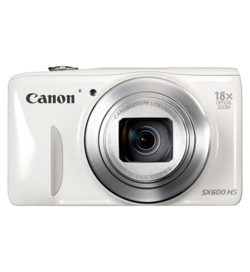 Canon PowerShot SX600 HS (16MP, 18x Optical Zoom, 3 inch LCD) Digital Compact Camera- White