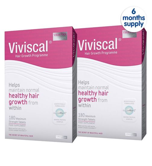 Viviscal Women's Max strength supplements 180's - 3months supply;Viviscal Women's Max strength supplements Bundle 360's - 6months supply;Viviscal Womens Max Strength Food Supplement 180 tablets