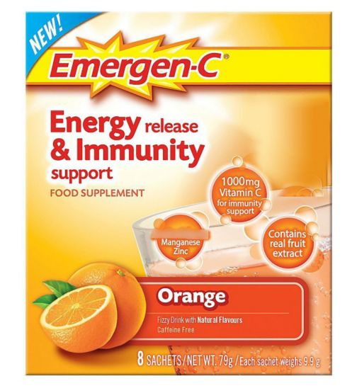 Emergen-C Super Orange Sachets with sweetener - 8 x 9.8 g