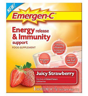 Emergen-C Juicy Strawberry Sachets with sweetener - 8 x 9.8 g
