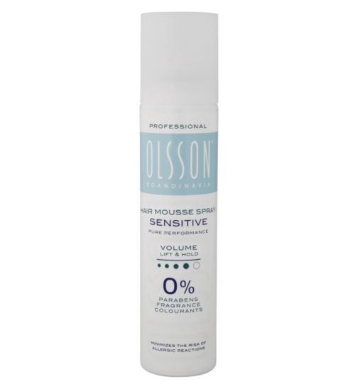 Olsson Scandinavia Sensitive hair mousse spray lift and hold 250ml