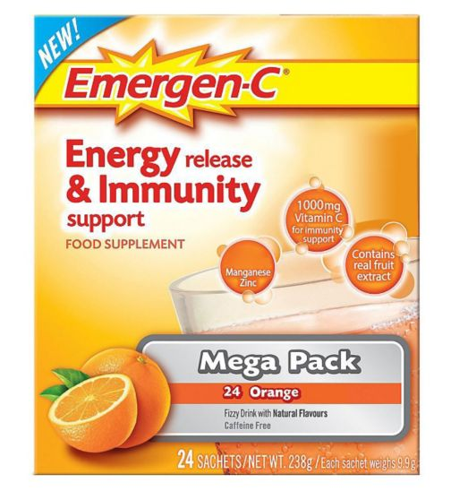 Emergen-C Super Orange Sachets with sweeteners - 24 x 9.8 g