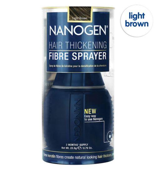 Nanogen Hair Thickening Fibre Sprayer Light Brown 22.5g