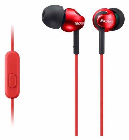 Sony EX110 Premium Headphones- Red