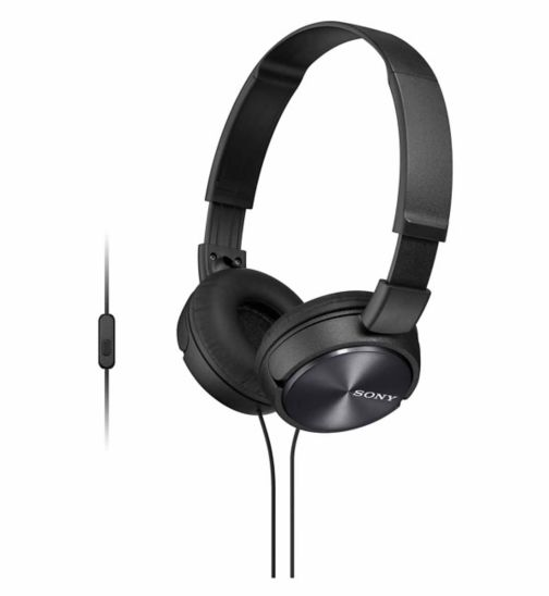 Sony ZX310 AP Headphones with a built in microphone - Black
