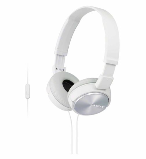 Sony ZX310 AP Headphones with a built in microphone - White