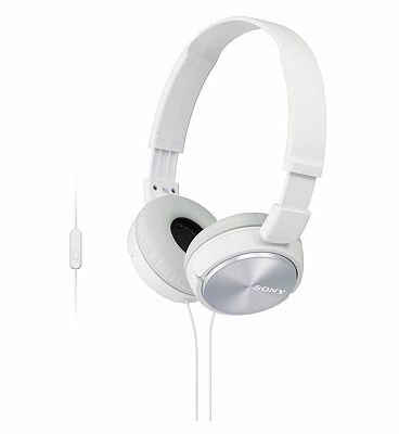 Sony ZX310 AP Headphones with a built in microphone  White