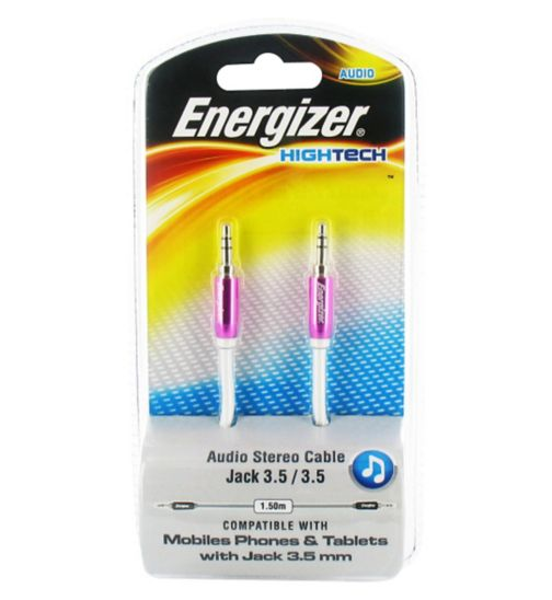 Energizer Audio Stereo Jack Cable- Pink