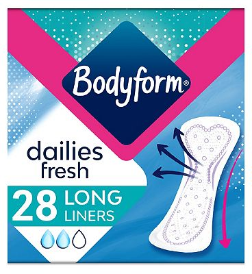 Bodyform CurveFit Long Flat Absorption Liner 28ct