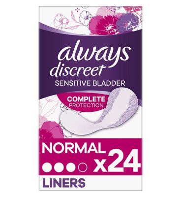 Always Discreet Incontinence Liners x 24