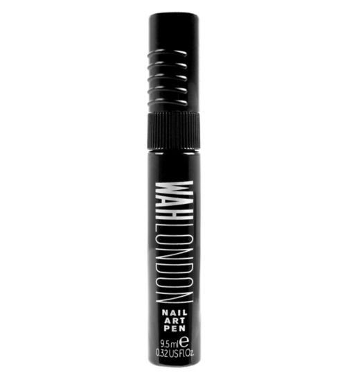 WAH London 01 Black Nail Art Pen 9.5ml