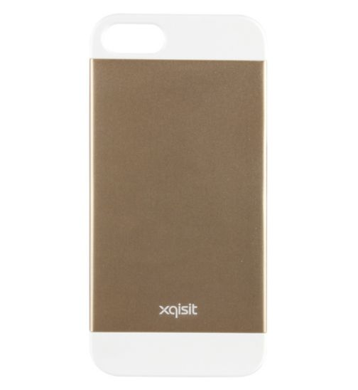 Xqisit iPlate Metal Phone Case for iPhone 5S- Gold and White
