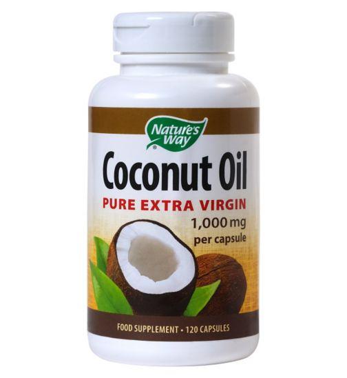 Nature's Ways Coconut Oil 120 capsules