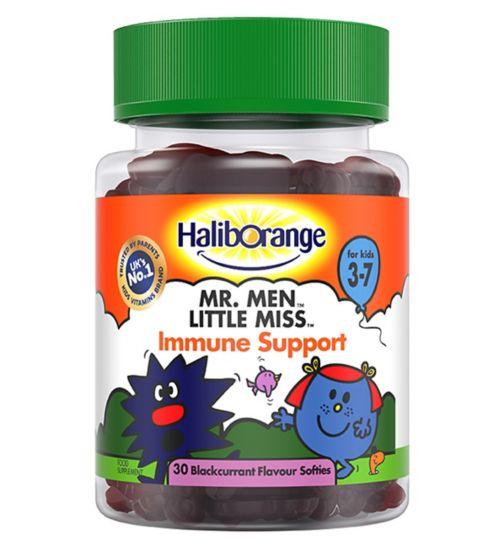 Haliborange Mr. Men Little Miss Immune Support for Kids 3-7 - 30 Blackcurrant Flavour Softies
