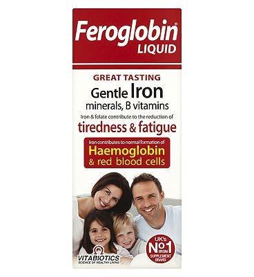 Vitabiotics Feroglobin B12 Liquid Iron Zinc B Complex Malt Honey Orange - 500 ml