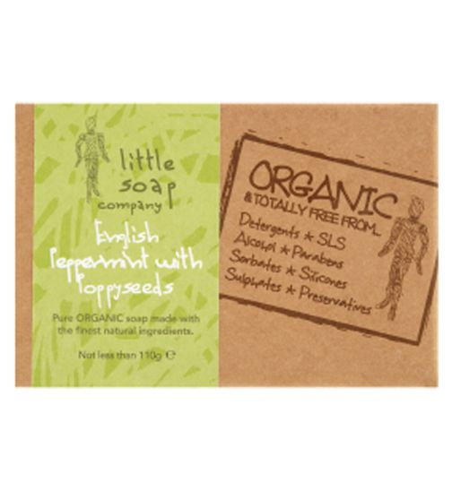 Little Soap Co Organic English Peppermint with Poppyseeds 110g