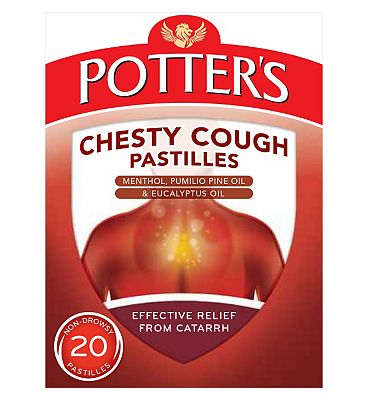 Potter's Chesty Cough Pastilles - 20 Pastilles