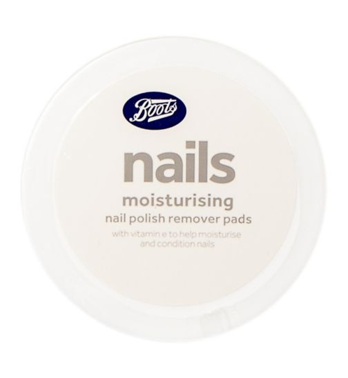 Boots moisturising nail polish remover pads